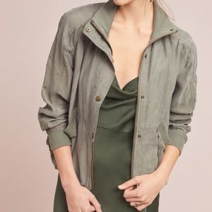 NWT Marrakech Green Draped Jacket Anthropologie M